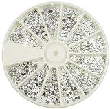 Nail Art Strass von Cheeky- 1000 Premium Silber Nail Strasssteine in vielen verschiedenen Formen.