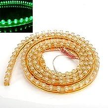 Sonline Tira de Luz 120 LED 120CM Flexible Lineal Impermeable PVC para Acuario Coche - Verde