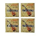 SOURCING MAP Completo Juego Acero Musical Violín Cuerdas E1 A2 D3 G4 De Recambio