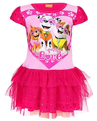 Everest Paw Patrol Kostüm - Paw Patrol Mädchen Offiziell Lizenzierte Skye Everest Print Cotton-Kostüm-Kleid Alter 6 Jahre