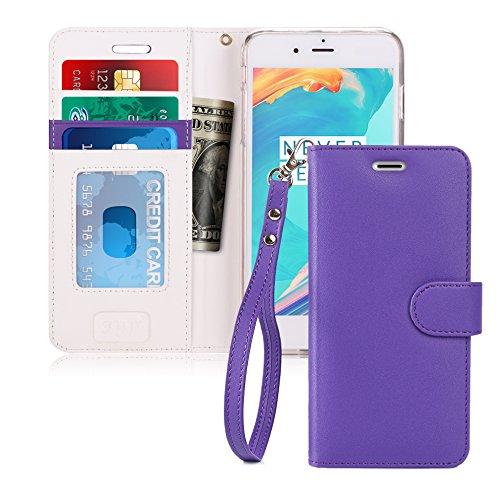 iPhone 7Plus Fall, fyy [RFID-blockierender Wallet] 100% Handgefertigt Brieftasche Schutzhülle Ständer Cover Kreditkarte Displayschutzfolie für iPhone 7Plus (Credit Case Card Reader Iphone)