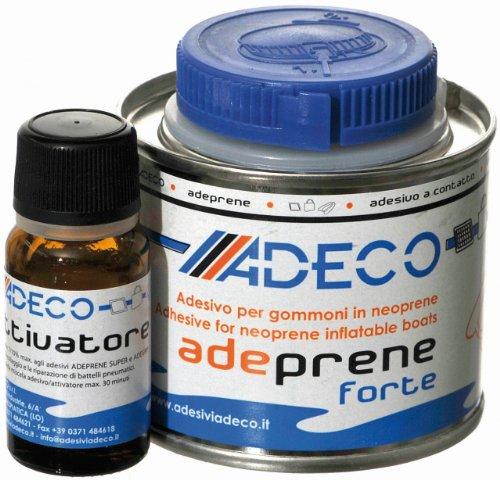 Adeco Adeprene forte Schlauchboot 2-Komponenten Kleber für Neopren 135g (Kleber Hypalon)