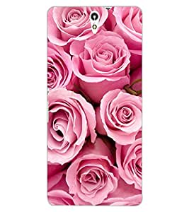 ColourCraft Beautiful Roses Design Back Case Cover for SONY XPERIA C5 E5553 / E5506
