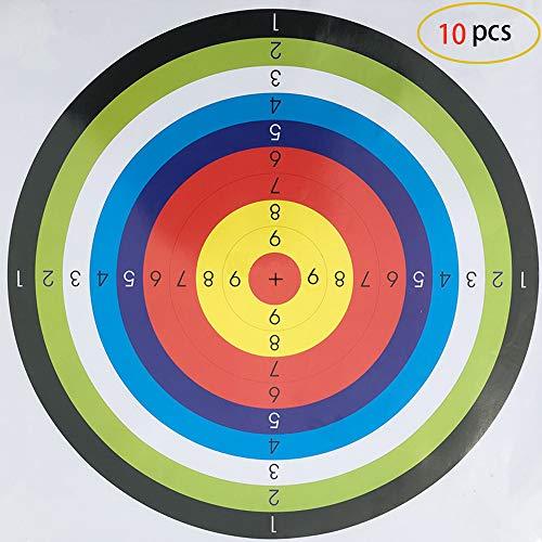 Mein HERZ 10 pcs Cible tir à l'arc, Cible Pratique 45x45 cm Traditionnel Arc Solide Cible de tir à l'arc pour Le Sport en Plein air tir à l'arc, Arc et Tir Dart