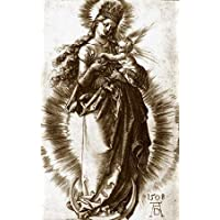 HeritageArtDecor The Virgin and Child On a Crescent with a Starry Crown - Fine Art Print on Fine Art Canvas - Print ON Canvas ONLY -NO Frame - Image Size is 23 x 37 Inch Wall Painting