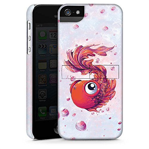 Apple iPhone 4 Housse Étui Silicone Coque Protection Poisson Poisson rouge Bande dessinée CasStandup blanc