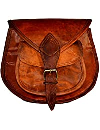 ALBORZ Vintage Handcrafted Leather Small Sling,Cross-Body Bag For Women, Size 9H 7L Inches Bag
