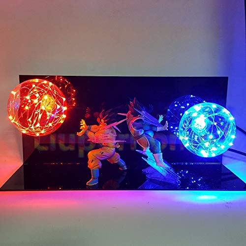 Dragon Ball Z Vegeta Son Goku Super Saiyan Led Lámpara de Iluminación Bombilla Anime Dragon Ball Z Vegeta Goku Dbz Lámpara Led Luz Nocturna