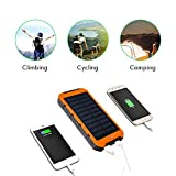 Magigo 10000mAh Solarstrom Ladegerät Dual USB Anschlüsse Solar Ladegerät tragbare Solar Panel Back Up Handy Ladegerät für iPhone, iPod, iPad, Samsung, Tablet etc. - 6