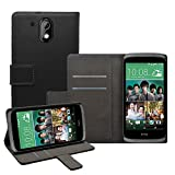 Membrane - Schwarz Brieftasche Klapptasche Hülle HTC