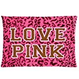 Victoria Secret Pink Best Deals - Bedroom Decor Custom Love Pink Victoria's Secret Pillowcase Soft Zippered Throw Pillow Cover Cushion Case Covers Fasfion Design Two Sides Printed 20x26 Pillows
