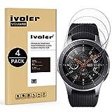 iVoler [4 Pack] Vetro Temperato Compatibile con Samsung Galaxy Watch 46mm [Garanzia a Vita], Pellicola Protettiva Protezione per Schermo per Samsung Galaxy Watch 46mm