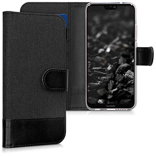 kwmobile Huawei P20 Lite Hülle - Kunstleder Wallet Case für Huawei P20 Lite mit Kartenfächern & Stand