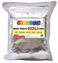 Cero Non-Toxic Holi Color powder - 500 gms - 5 colours assorted pack - Skin-safe & non-toxic