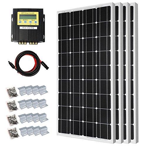 ECO-Worthy 400Watt monocry Stal Line SOLAR SYSTEM Kit Off Grid, 400W MPPT