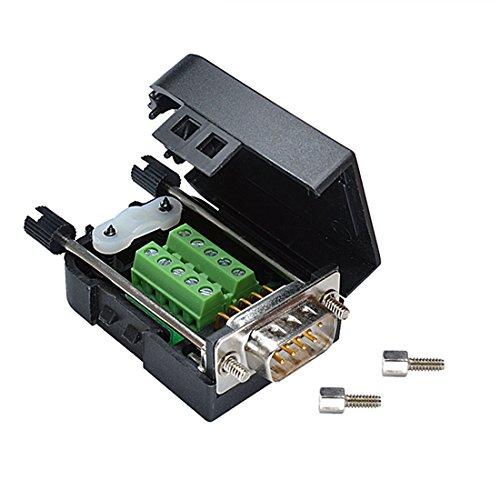 oiyagai DB9Stecker 9pin zu Schraubklemmen-Anschluss Signal Modul, Massiv Pin Male -