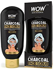WOW Activated Charcoal Face Scrub No Parabens Mineral Oil