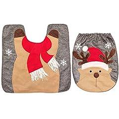 Idea Regalo - thematys Copriwater coprisedile - Tappetini da Bagno Perfetti per Natale in Vari Design - la Perfetta Decorazione Natalizia (Renna)