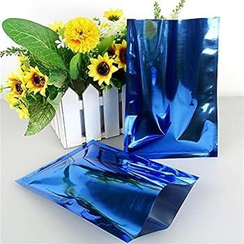bestomz Aluminium Sac Emballage Lot de 100sacs sous vide pour alimentaire (Bleu)