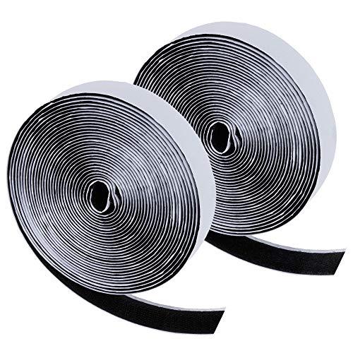 Zacro 6m Klettband Selbstklebend Extra Stark Doppelseitiges Klebeband Flausch und Haken 20mm Breit für Alle Arten von Grafikrahmen Installation
