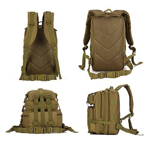 cinmaul Military MOLLE Rucksack Tactical Gear Tasche groß Assault Pack für die Jagd Camping Trekking ACU Camouflage