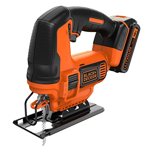 BLACK+DECKER BDCJS18-QW Seghetto Alternativo ad Azione Pendolare, 18V, Litio, 2.0 Ah, 18 V
