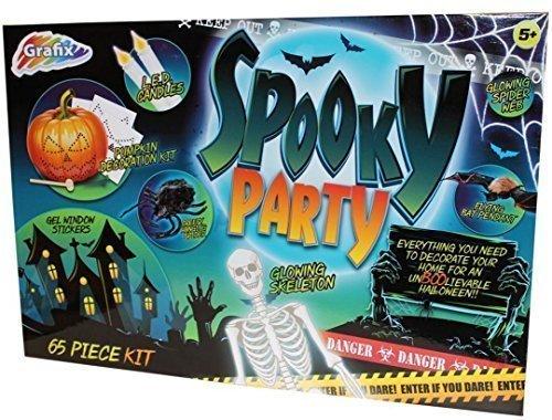 y 65 Teile Kinder Halloween Dekoration Kit (Kinder Kürbis Dekoration Kit)