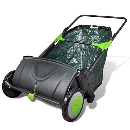 vidaXL Kehrmaschine Rasenkehrer Rasenkehrmaschine Laubkehrer