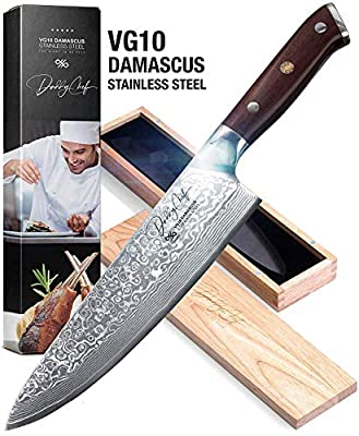 "DALSTRONG Carving Knife & Fork Set - Shogun Series -9"" - AUS-10V- Vacuum Heat Treated- Sheath"