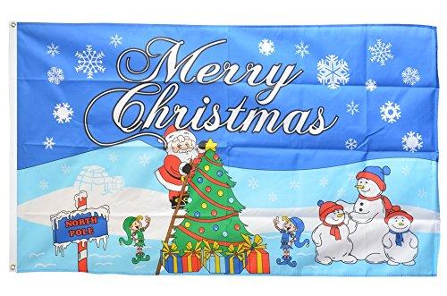 Flaggenfritze® Flagge Merry Christmas Nordpol - 90 x 150 cm