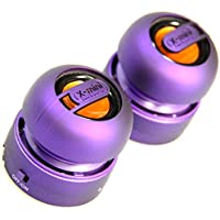 XMI X-Mini Max Duo Portable Mini Speakers with 3.5mm Jack Compatible with iPhone/iPad/iPod/Smartphones/Tablets/MP3 Player/Laptop - Purple