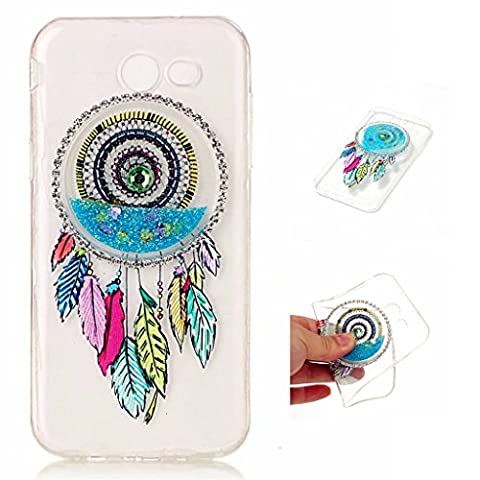 Samsung Galaxy J3 (2017) Case Cover MUTOUREN TPU Silicone Durable Creative protective bling glittering case NO Liquid Cover Ultra Slim Stylish 3D Creative Red Dreamcatcher Design Quicksand Silicone TPU Glitter Clear Crystal Soft Flexible Gel Rubber Bumper Protective Case Cover Skin Bulkiness Soft Shockproof Phone Case-quicksand dreamcatcher 02