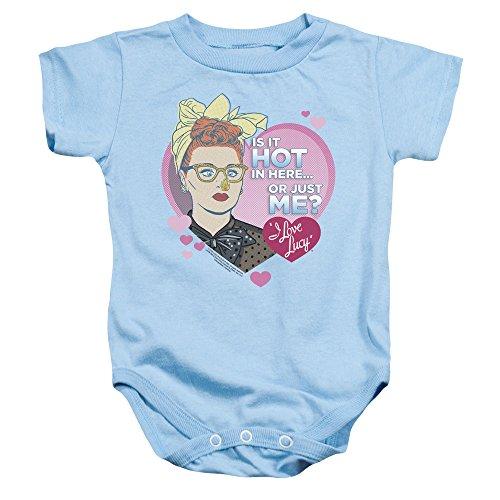 I Love Lucy - - Toddler Hot Onesie, 6 Months, Light Blue