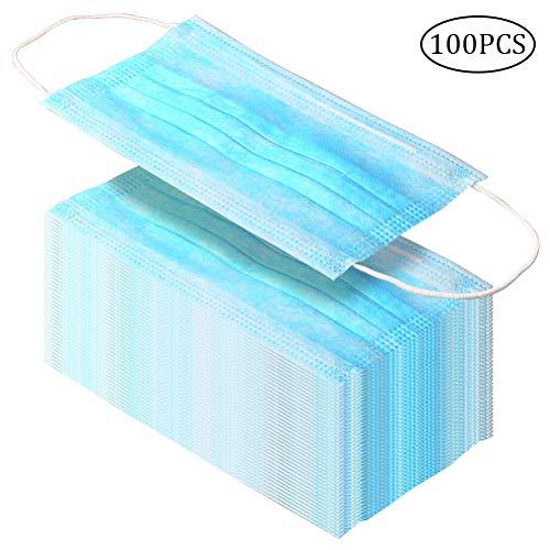 Nuosen 100 Stücke Anti-Verschmutzung Einwegmaske, 3 Schicht Aktivkohle Filter Staubschutzmasken für Hypoallergen medizinischen -