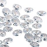 H & D 18mm Kristall Octagon Perlen Kette Kronleuchter Prismen zum Aufhängen Hochzeit Christmas Garland (100Stück, klar)