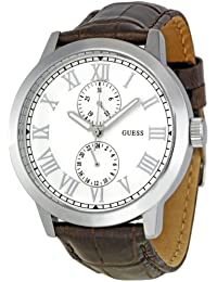 Guess Herren-Armbanduhr XL Analog Leder W85043G2