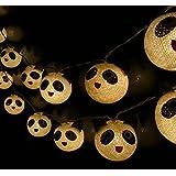 20/Set Classique Boule Coton Léger Panda Blanc Noir Pour Noël Parti Décor à la Maison