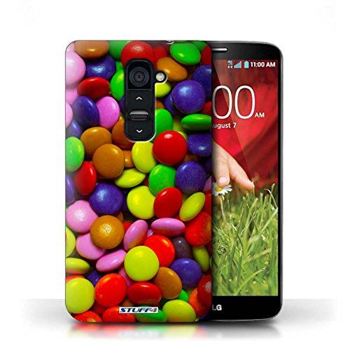 Kobalt® Imprimé Etui / Coque pour LG G2 / Smarties conception / Série Bonbons Smarties