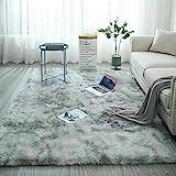 Catalpa Blume Tapijt in zilvergrijs hoogpolig shaggy tapijten langpolig woonkamer onderhoudsvriendelijk 160x230cm