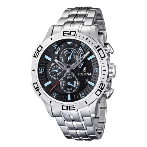 Festina - F16565/5 - Montre Homme - Quartz Chronographe - Bracelet Acier Inoxydable Argent