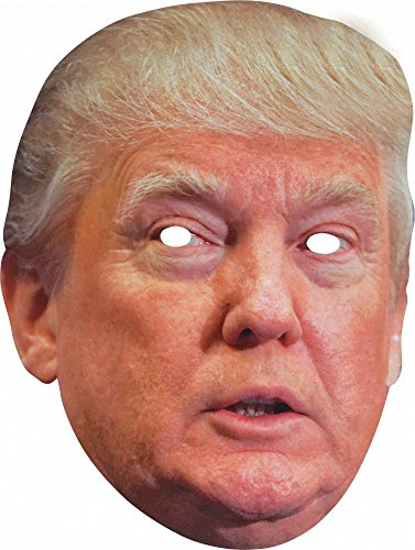 Party-Maske aus hochwertigem Karton Funny Masks Celebrity Pappe , Namen:Donald Trump
