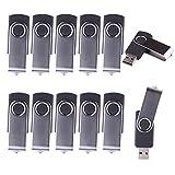 WST (Lot DE 10) Clé USB 2Go Mémoire Flash USB 2.0 (Noir)