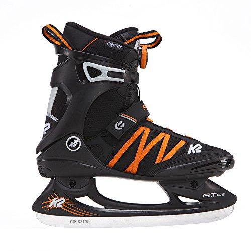 K2 Herren Schlittschuhe FIT ICE BOA, schwarz/orange, 41.5, 25B0001.1.1.085