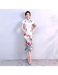 523e1ba442 YAN Vestido de Mujer Vestido de Fiesta Largo de la Noche del Vestido Chino  de Las Mujeres Cheongsam Cocktail de…