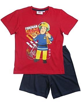 Feuerwehrmann Sam Kollektion 2017 Schlafanzug 92 98 104 110 116 122 128 Pyjama Shortie Shorty Fireman Sam Jungen...