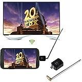 Anyutai Receptor de TV móvil digital DVB-T, receptor de sintonizador de TV micro USB DVB-T para teléfono inteligente Android Tablet PC HDTV