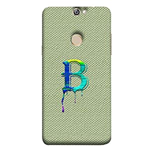 YuBingo Designer Phone Back Case Cover Coolpad Max A8 ( Monogram with Beautifully Written Paint Finish letter B )