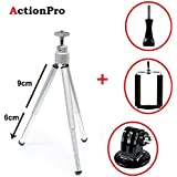 Action Pro 1 X Silver Mini Tripod 1 X Monopod Adapter 1 X U HolderFor GoPro 1 X Screw Hero 7 6 5 4 3+ 3 2 1 Xiaomi Yi SJCAM SJ4000 WiFi SJ5000 SJ6000 SJ7000 Sports Action Cameras