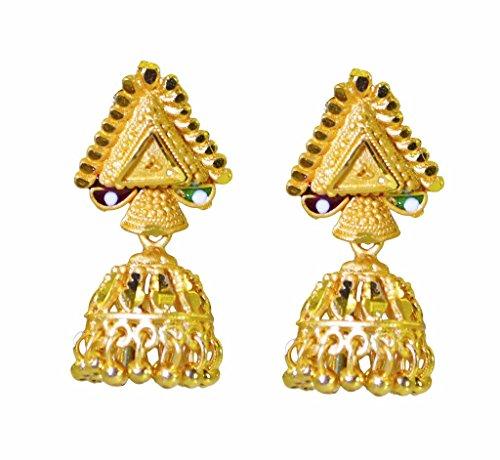 Riyo plateado oro liso pendiente llanura deslumbrante joyería al por mayor hecha a mano gpejhu-120040