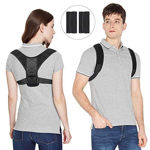 Vegena Haltungskorrektur Geradehalter, Rückenbandage Rückenstütze Rücken Geradehalter Schulter Posture Corrector Haltungstrainer mit Verstellbare Größe für Damen und Herren (Style 1)